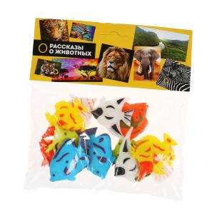 Игрушка пластизоль рифовые рыбки 6,25см 12ассорти набор, пакет ИГРАЕМ ВМЕСТЕ в кор.2*144шт