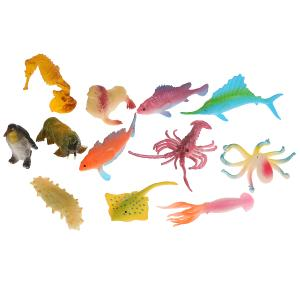 Игрушка пластизоль Играем Вместе Морские обитатели 5-6см 12ассорти набор в пак. в кор.2*120шт