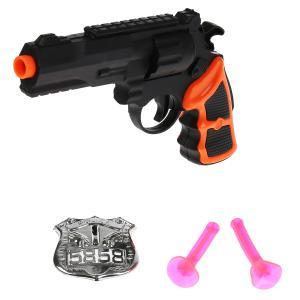 Набор полиция (пистолет, присоски, значок) в пак. (русс. уп.) в кор.2*240шт
