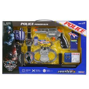 Набор полиция (пистолет, наручники, аксесс.) свет+звук 34350 в кор. в кор.2*18шт