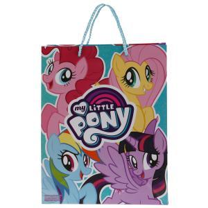 """Пакет подарочный глянцевый Мой маленький пони 26х32х14см в пак. """"Играем вместе"""" уп-12шт в кор.6уп"""