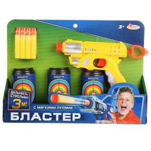 """Бластер - тир с мягкими пулями, банками в русс. кор. """"Играем вместе"""" в кор.2*18шт"""