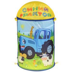 """Корзина для игрушек Синий Трактор 43*60см в пак. """"Играем вместе"""" в кор.24шт"""