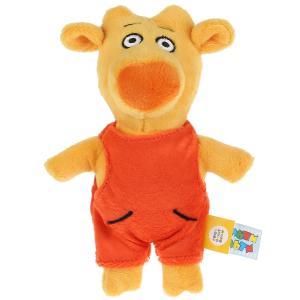 Игрушка мягкая Оранжевая корова теленок бо, 17 см, без чипа, в пак. Мульти-пульти в кор.24шт
