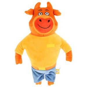 Игрушка мягкая Оранжевая корова папа, 30 см, без чипа, в пак. Мульти-пульти в кор.24шт