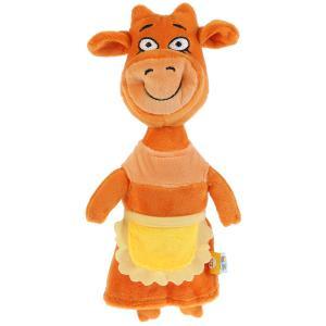 Игрушка мягкая Оранжевая корова мама, 27 см, без чипа, в пак. Мульти-пульти в кор.24шт
