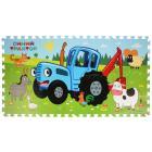 """Коврик-пазл Синий Трактор 8 сегментов, каждый 31.5*31.5см в пак. """"Играем вместе"""" в кор.12шт"""