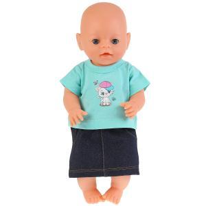 """Одежда для кукол 40-42см комплект """"котенок в кепке"""" в пак. """"Карапуз"""" в кор.100шт"""