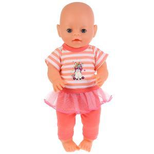 """Одежда для кукол 40-42см комплект """"единорог"""" в пак. """"Карапуз"""" в кор.100шт"""