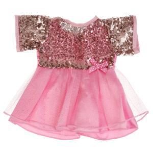 """Одежда для кукол 40-42см платье с пайетками в пак. """"Карапуз"""" в кор.100шт"""
