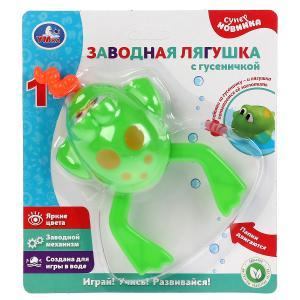 Заводная игрушка для ванны лягушка с гусеничкой на блистере (русс. уп.) Умка в кор.2*96шт