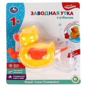 Заводная игрушка для ванны утка с утёнком на блистере (русс. уп.) Умка в кор.2*84шт
