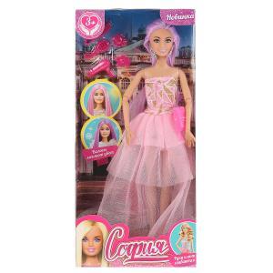 Кукла 29см София, волосы меняют цвет, с акс., руки и ноги сгибаются, в кор. София и Алекс в кор.24шт
