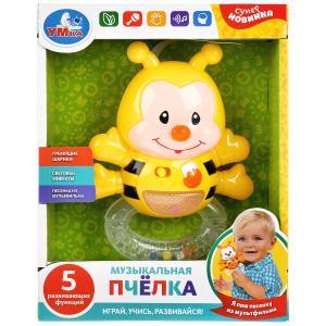 """Развивающая игрушка """"Колыбельная медведицы из м/ф Умка"""" пчелка, со светом в кор. Умка в кор.48шт"""