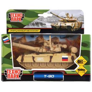 Модель металл ТАНК Т-90, 12 см, подвиж. дет., инерц.,кор. Технопарк в кор.2*24шт