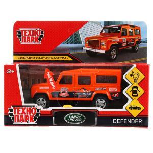 Машина металл свет-звук land rover defender спорт 12см,инерц.,оранжевый в кор. Технопарк в кор2*36шт
