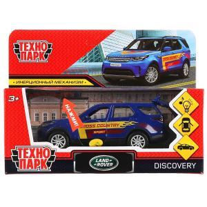 Машина металл свет-звук land rover discovery спорт 12см, инерц., синий в кор. Технопарк в кор.2*36шт