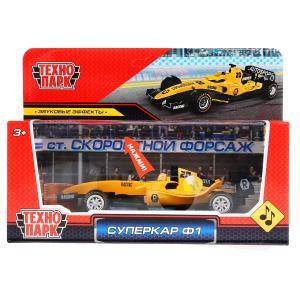Машина металл звук СУПЕРКАР Ф-1 длина 14 см, желтый, кор. Технопарк в кор.2*36шт