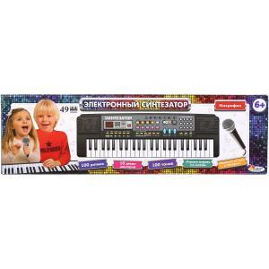 Электронный синтезатор на бат. 49 клавиш, микрофон, в русс. кор. Играем вместе в кор.2*18шт