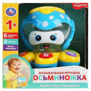 Музыкальная игрушка осьминожек, Шаинский музыка, на бат. свет+звук в русс. кор. Умка в кор.2*36шт