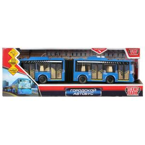 """Машина свет+звук """"городской автобус"""" 32,5см, пластик, гибкая сцепка в кор.Технопарк в кор.24шт"""