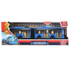 """Машина свет+звук """"городской троллейбус"""" 32,5см, пластик, гибкая сцепка в кор. Технопарк в кор.24шт"""
