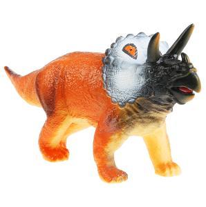 Игрушка пластизоль динозавр паразауролофы 37*9*13см, звук, хэнтэг Играем вместе в кор.2*36шт