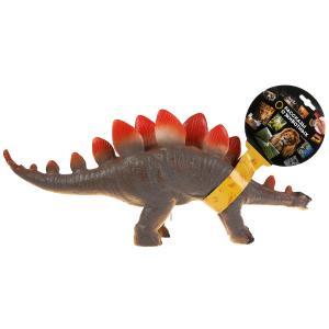 Игрушка пластизоль динозавр стегозавры 45*9*20см, звук, хэнтэг Играем вместе в кор.2*24шт