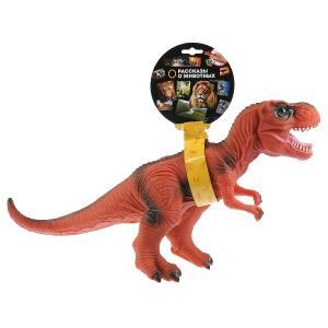 Игрушка пластизоль динозавр тиранозавр 49*15*25,5см, звук, хэнтэг Играем вместе в кор.2*24шт