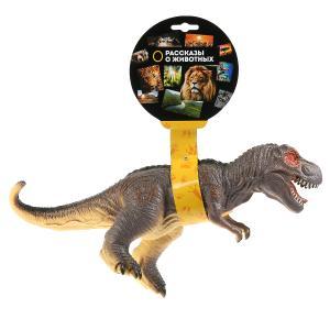 Игрушка пластизоль динозавр тиранозавр 32*11*23см, хэнтэг (русс. уп.) Играем вместе в кор.2*36шт