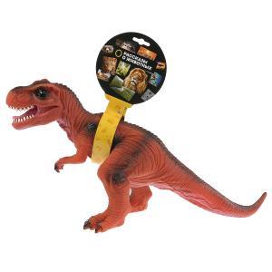 Игрушка пластизоль динозавр тиранозавр 49*15*25,5см, хэнтэг (русс. уп.) Играем вместе в кор.2*24шт