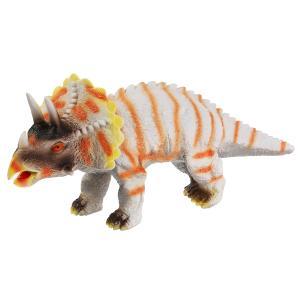 Игрушка пластизоль динозавр трицератопс 33*12*16см, хэнтэг (русс. уп.) Играем вместе в кор.2*36шт
