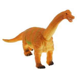 Игрушка пластизоль динозавр брахиозавр 31*9*26см, хэнтэг (русс. уп.) Играем вместе в кор.2*36шт