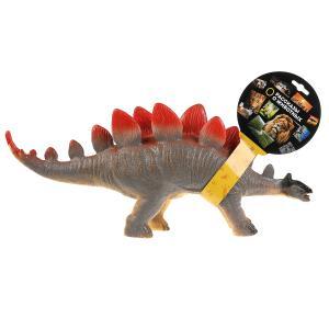 Игрушка пластизоль динозавр стегозавры 45*9*20см, хэнтэг Играем вместе в кор.2*24шт