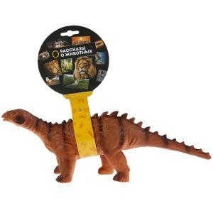 Игрушка пластизоль динозавр апатозавр 32*11*12см, хэнтэг Играем вместе в кор.2*36шт