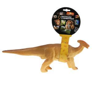 Игрушка пластизоль динозавр паразауролофы 37*9*13см, хэнтэг Играем вместе в кор.2*36шт