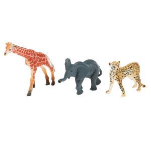 Игрушка пластизоль животные африки 3шт (жираф, гепард, слоненок) в пак. Играем вместе в кор.2*180наб