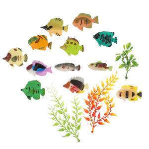 Игрушка пластизоль рифовые рыбки (12 рыбок + 3 водоросли) в пак. Играем вместе в кор.2*156шт