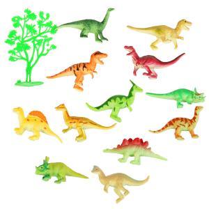 Игрушка пластизоль Играем Вместе Динозавры+дерево, асс. 12шт, в пак с хедером в кор.2*60шт