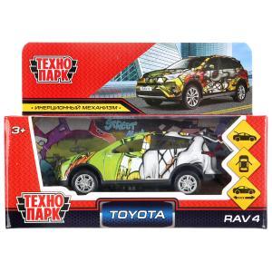 """Машина металл TOYOTA """"toyota rav4 графити"""", длина 12см, инерц, в ассорт. в кор.Технопарк в кор2*36шт"""