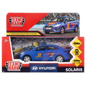 Машина металл hyundai solaris спорт 12см, откр. двери, инерц.синий в кор. Технопарк в кор.2*36шт