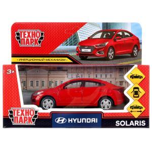 Машина металл HYUNDAI solaris, 12см, откр.двери, инерц., красный в кор. Технопарк в кор.2*36шт