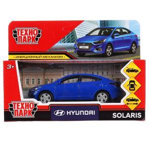 """Машина металл """"hyundai solaris"""" 12см, открыв.двери, инерц., синий в кор. Технопарк в кор.2*36шт"""