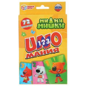 Карточки развивающие Уномания. Ми-Ми-Мишки. Карточки 72шт. 85х62мм. Умные игры в кор.50шт