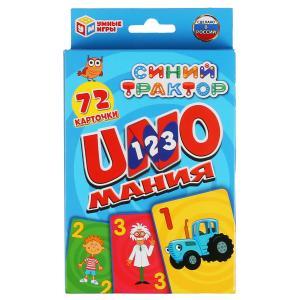 Карточки развивающие Уномания. Синий трактор. Карточки 72шт. 85х62мм. Умные игры в кор.50шт