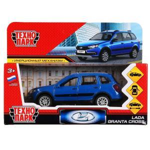 "Машина металл ""lada granta cross 2019"" 12см, откр.двери, инерц., синий в кор. Технопарк в кор.2*36шт"