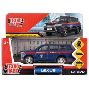 """Машина металл """"lexus lx-570 следственный комитет"""" 12см, инерц., синий в кор. Технопарк в кор.2*36шт"""