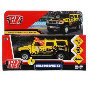 """Машина металл свет-звук """"hummer h2 спорт"""" 12см, инерц., желтый в кор. Технопарк в кор.2*36шт"""