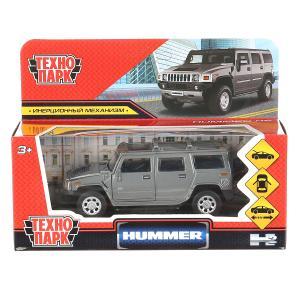 """Машина металл """"hummer h2"""" 12см, открыв. двери, инерц., темно-серый в кор. Технопарк в кор.2*36шт"""