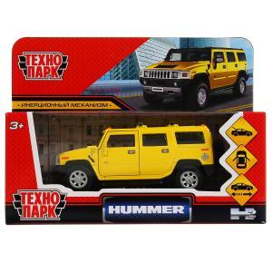 """Машина металл """"hummer h2"""" 12см, открыв. двери, инерц., желтый в кор. Технопарк в кор.2*36шт"""